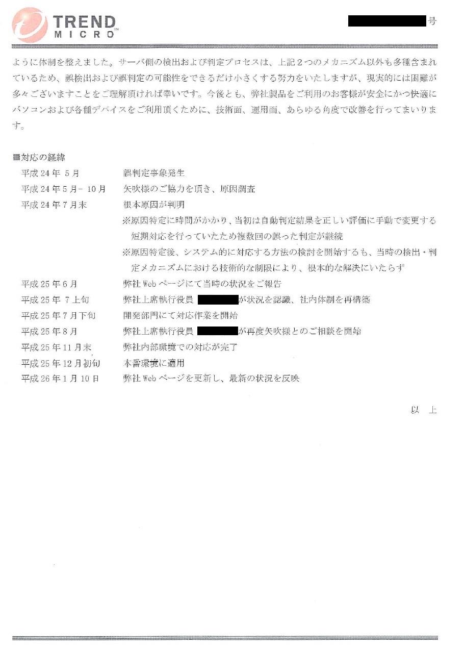 ウイルスバスターにおけるINASOFTソフトウェアの誤判定に関して2/2