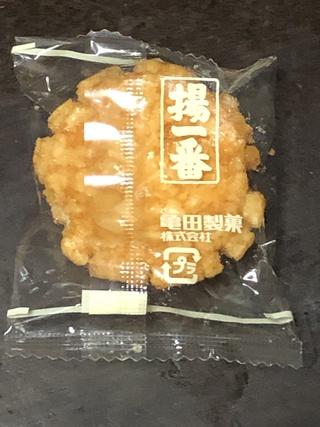 「揚一番 by 亀田製菓」だそうだ