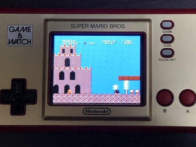 GAME&WATCH SUPER MARIO BROS. スーパーマリオブラザーズ2 5-1に到達