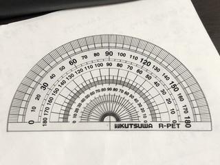 これは分度器です